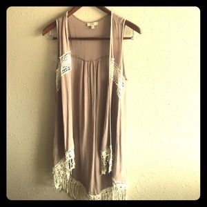 Super Cute Fringe Open Front Vest by Kori!
